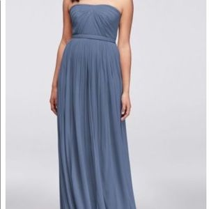 David's bridal long mesh style-your-way dress